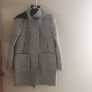 Vince Camuto Winter Coat Grey hooded wool blend